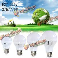 Лампа E27 5w звуковой датчик движения света 220В