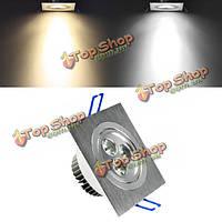 LED 3w белый/теплый белый квадрат встраиваемый потолочный светильник ресторан вниз лампа спот лампа AC85-265V