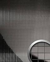 WallFace 10533 M-Style панель настенная самоклеящаяся с текстурой металлической мозаики антрацитовая | 0,96 кв.м