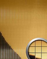 WallFace 10581 M-Style панель настенная самоклеящаяся с текстурой металлической зеркальной мозаики золотая | 0,96 м