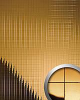 WallFace 10582 M-Style панель настенная самоклеящаяся с текстурой металлической зеркальной мозаики золотая | 0,96 м