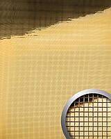 WallFace 10592 M-Style панель настенная самоклеящаяся с текстурой зеркальной мозаики золотая | 0,96 м
