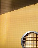 WallFace 10593 M-Style панель настенная самоклеящаяся с текстурой металлической зеркальной мозаики золотая | 0,96 м
