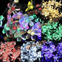 Гирлянда Цветы водонепроницаемая 20 LED на солнечных батарейках