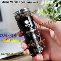 BTU PK26 CREE xhp35 HD 20Вт ХО 2000lumens Mini карман LED фонарик