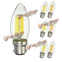 Затемняемый b22 c35 6w початка чистый белый теплый белый Edison AC220V лампа ретро свет лампы