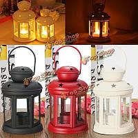 Старинные металлические Марокканский фонарь свеча держатель висит домашняя настольная лампа Tealight