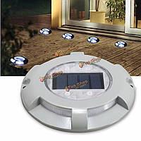 На открытом воздухе 4 LED солнечный приведенный в действие свет дорога путь подъездной док заземления лампы