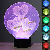 3D оптическая иллюзия 7 изменение цвета сенсорный выключатель LED настольный стол свет лампы ночь