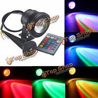 LED Водонепроницаемый IP68 10Вт RGB свет фонтан бассейн пруд подводный прожектор пульт дистанционного управления