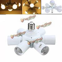 База LED свет лампы адаптер лампы держатель гнезда разветвитель E27 7 в 1 с возможностью вращения E27 к