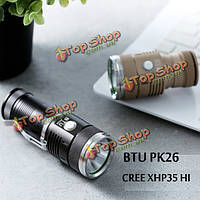 BTU PK26 CREE xhp35 привет 20Вт 2000lumens Mini NW карман LED фонарик