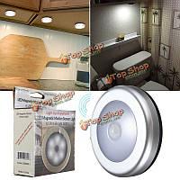 6 LED беспроводной датчик движения PIR ночник настенный шкаф шкаф ящик лампа