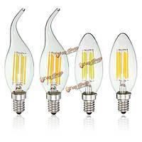 Затемняемый e14 6W початка лампа накаливания Эдисона 600lm LED свет свечи AC 110V