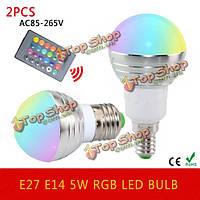 Лампочки LED RGB 5w с пультом управления 16 цветов E27/Е14 AC85-265V