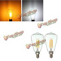 Ретро e12 4w Эдисона лампы накаливания LED теплый белый чистый белый свет лампы свечи AC 110V