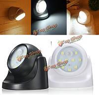 Лампа с датчиком дневного света 9 LED черный/белый