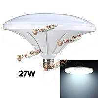 E27 27w 72 SMD 5730 LED холодный белый блюдце шар света колбы лампы AC220В