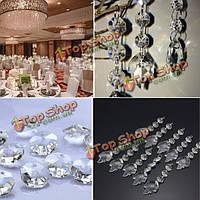 Акриловые кристалл кленовый лист формы бусины Гирлянда люстра висит свадьба декор