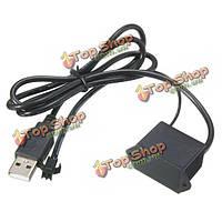 USB контроллер преобразователя для 1-3 метра LED El провод тлеющего гибкий неон декора DC5V