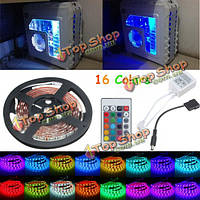 0.5/1/1.5/2m RGB 5050 16 цветов LED полоса шасси компьютера фары + пульт дистанционного управления