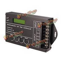 5 каналов программируется LED время диммер контроллер RGB для полосы освещения 20А DC12V-24v