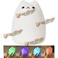 Перезаряжаемые цвет изменчива силикона LED чувствительный контроль кран свет ночи для дома
