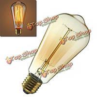 E27 60Вт антиквариата год сбора винограда типа Edison углерода filamnet Clear AC110В колба стекло/220В