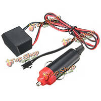 DC12V прикуриватель контроллер драйвер для 1-10м LED El провод тлеющего гибкий неон декора