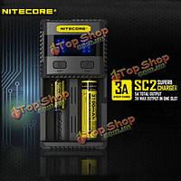 Nitecore SC2 3A интеллектуальное превосходное зарядное устройство для Li-Ion/IMR/LiFePO4/Ni-MH батареи