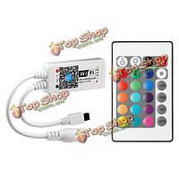 ARILUX™ AL-LC03 супер мини-контроллер LED Wi-Fi приложение + пульт дистанционного управления для RGB LED полосы постоянного тока 9-12V