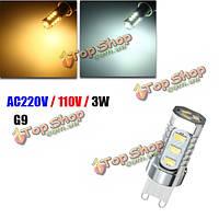 G9 3w 15 SMD 5730 LED алюминий Plus керамика теплый белый Clear белый свет лампы лампы AC110В/220В