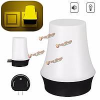 Новизна 0.3W теплый белый LED Гриб звуковой сенсор свет ночи нас подключить 110-220В