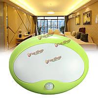 4.5в с питанием от батарей зеленый LED Свет ночи датчик шкаф для кухни декоративные