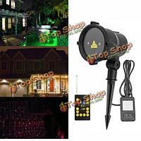 Водонепроницаемый лазерный дистанционный RGB LED на открытом воздухе проектор пейзаж свет для декора сада домой партии