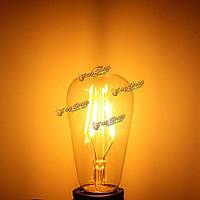 Диммируемый Vintage Retro E27 ST58 4W LED COB Warm White Filament Edison Bulb 110В 220В