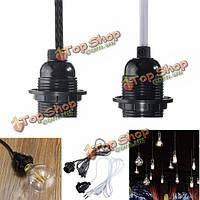 2.5м шнур e27/E26 Edison подвесной светильник держатель света висит гнезду US переходника штепсельной вилки переключателя