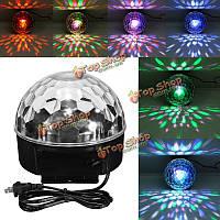 18w LED 6 цветов пульта дистанционного управления цифровой кристалл сцены магический шар освещения US заткнуть