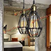 Промышленного ретро Урожай кухни бар магазин черный кулон потолочный светильник подвесной светильник тени светильник