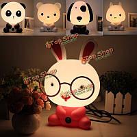 Прекрасный ребенок ребенок спальня рабочий стол свет ночи собака медведь кролика панды мультфильма лампа 220v