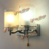 Современное стекло с двойной головкой дорожки в помещении стены крыльцо зал лампа Бра светильник с выключателем