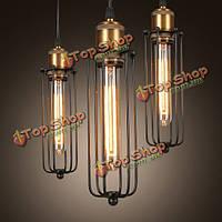 Одна голова старинные ретро железный подвесной светильник творческий Edison флейта потолочный светильник для внутреннего освещения