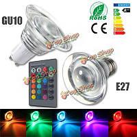 Е27 изменение / GU10 4W цвет RGB LED волшебная лампа лампы свет пятна дистанционного 85-265