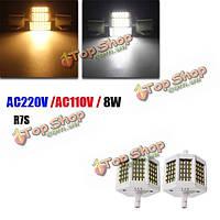 Затемняемый R7s 78мм 8w 60 СМД 4014 LED черная тарелка теплый белый белый лампа лампочка AC220V / AC110V