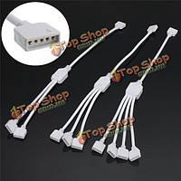 1 2/3/4 женский сплиттер кабель провод разъем 5-контактный для RGBW 5050 Светодиодные полосы света