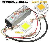 Высокая мощность 100w LED СМД чип лампа с водонепроницаемым питания драйвера dc20-40v