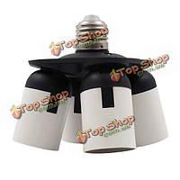 4в1  Е27 лампочки держатель разъема адаптера конвертера разветвитель для фото студии