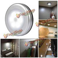 С питанием от батарей 6 LED движение беспроводной PIR датчик ночной свет шкаф шкаф лампа