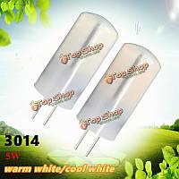 G4 5w 48 SMD 3014 LED кристаллический свет силикона шарика теплый/холодный белый светильник для дома AC/DC 12v