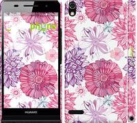 """Чехол на Huawei Ascend P6 Цветочный узор v2 """"1163c-39"""""""
